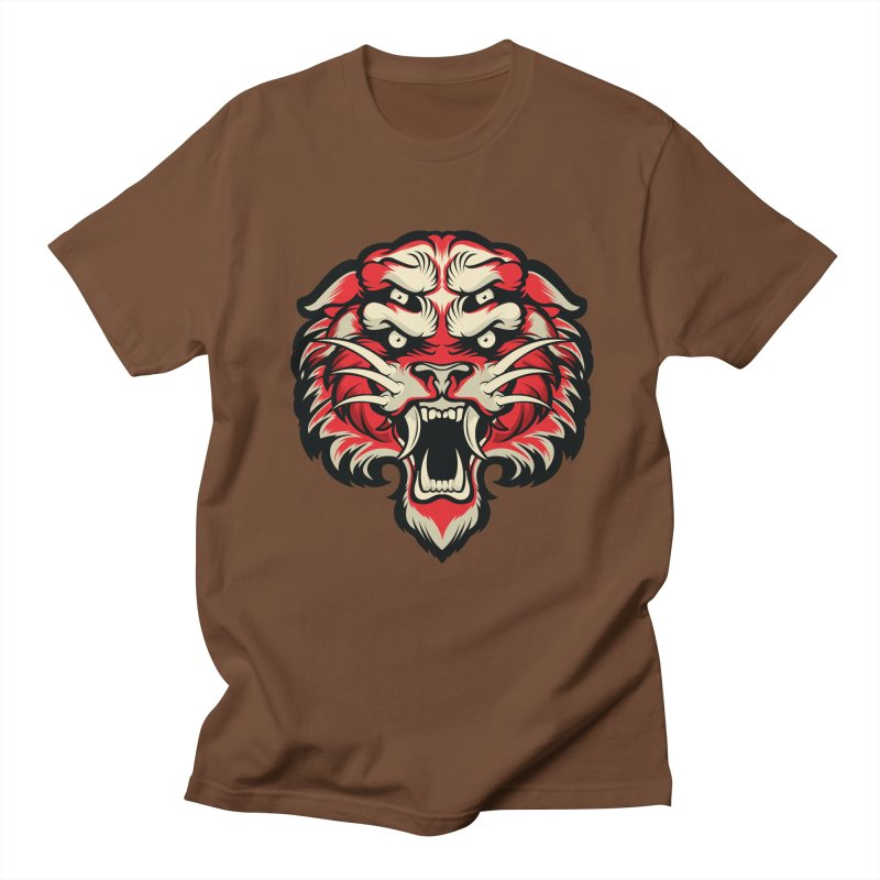 Sabertooth Men's Regular T-Shirt by HYDRO74
