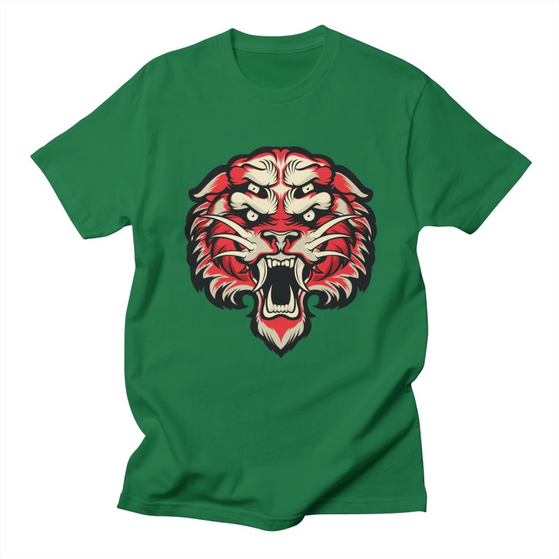 Sabertooth Men's Regular T-Shirt by HYDRO74