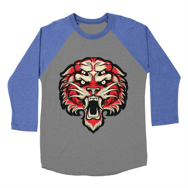 Sabertooth Women's Baseball Triblend Longsleeve T-Shirt by HYDRO74