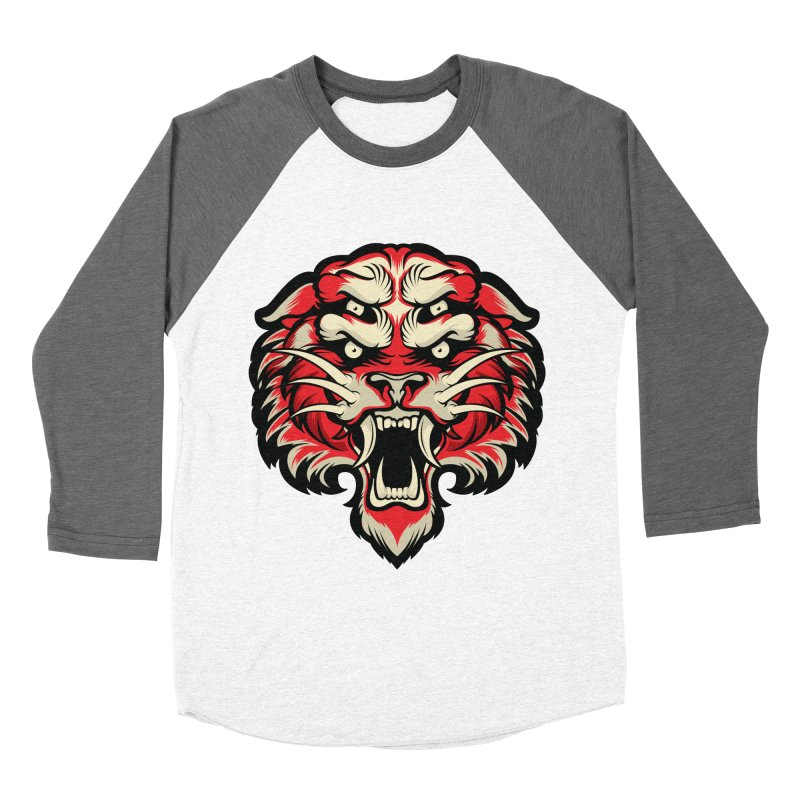 Sabertooth Men's Baseball Triblend Longsleeve T-Shirt by HYDRO74