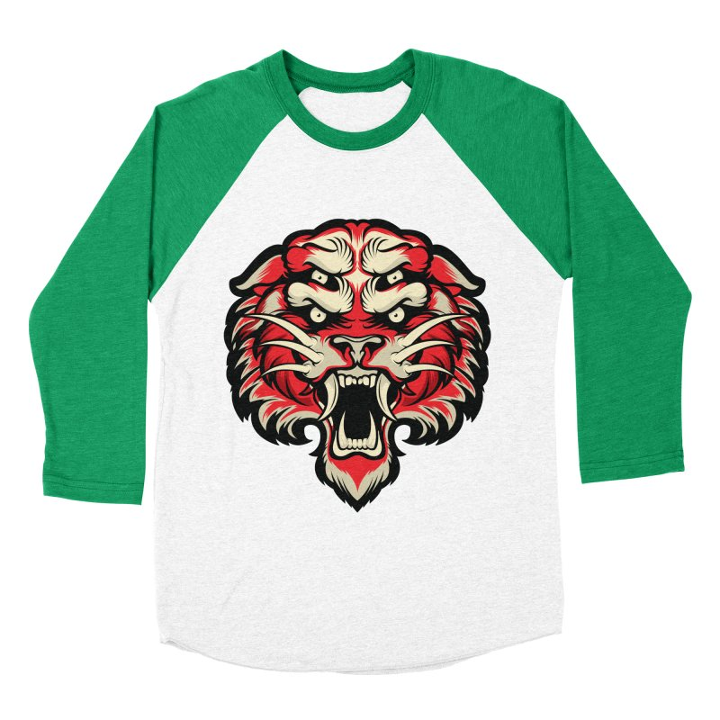 Sabertooth Men's Baseball Triblend Longsleeve T-Shirt by HYDRO74