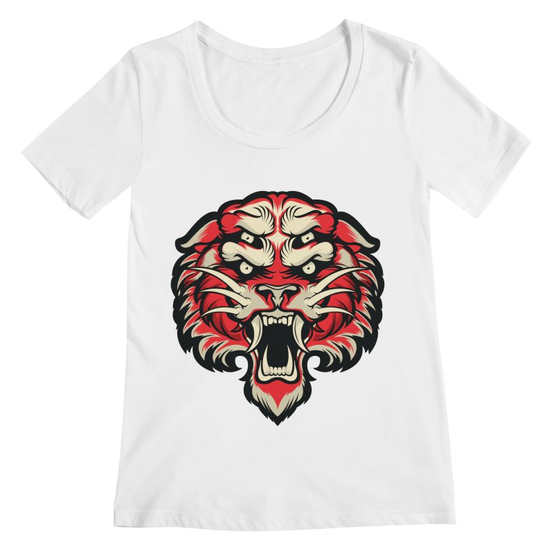 Sabertooth Women's Regular Scoop Neck by HYDRO74