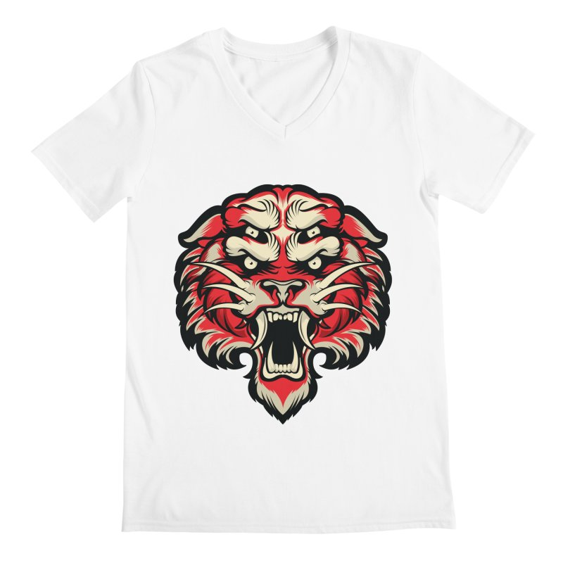 Sabertooth Men's Regular V-Neck by HYDRO74