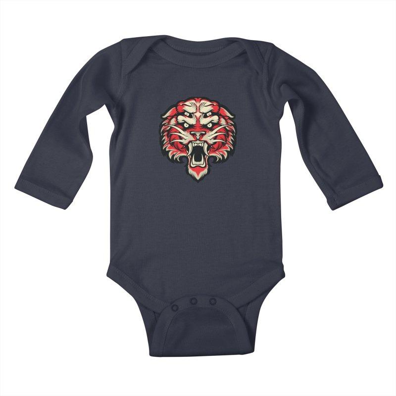 Sabertooth Kids Baby Longsleeve Bodysuit by HYDRO74