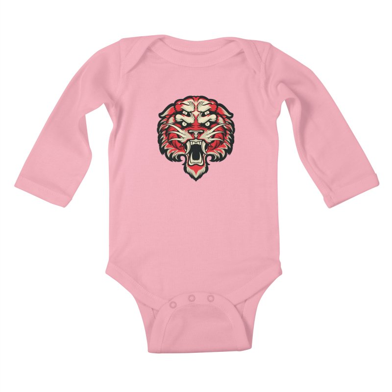 Sabertooth Kids Baby Longsleeve Bodysuit by HYDRO74