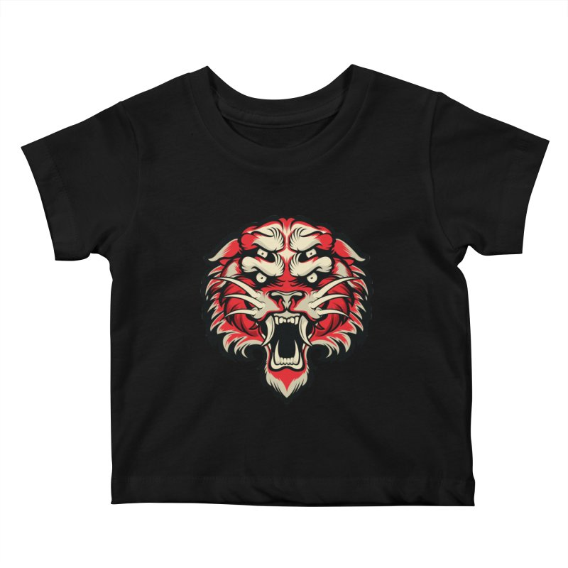 Sabertooth Kids Baby T-Shirt by HYDRO74