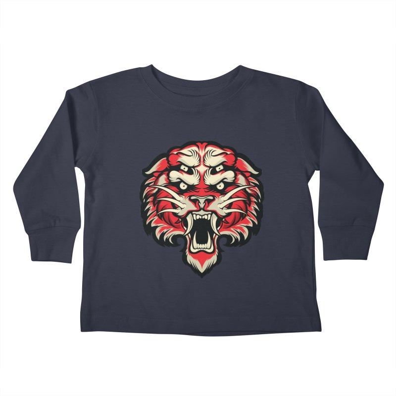 Sabertooth Kids Toddler Longsleeve T-Shirt by HYDRO74