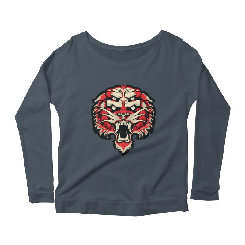 Sabertooth Women's Scoop Neck Longsleeve T-Shirt by HYDRO74