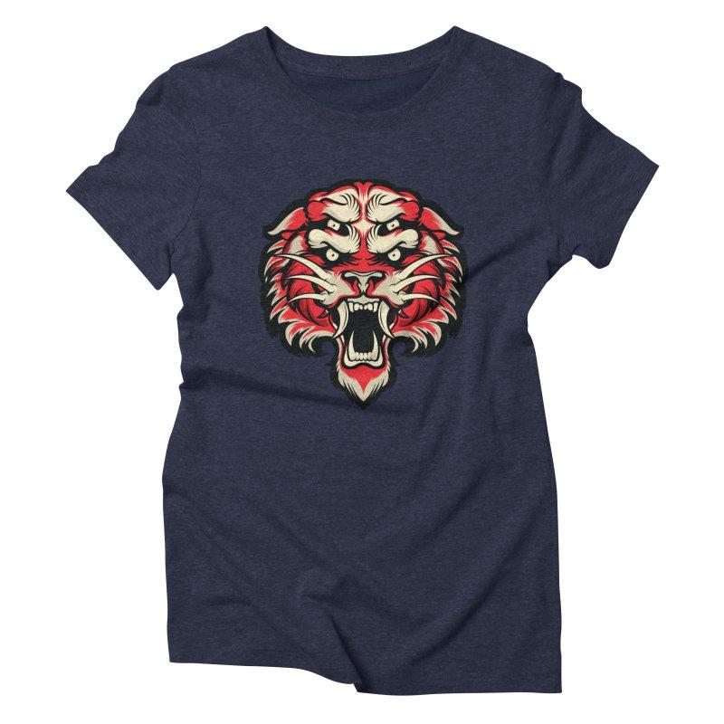 Sabertooth Women's Triblend T-Shirt by HYDRO74