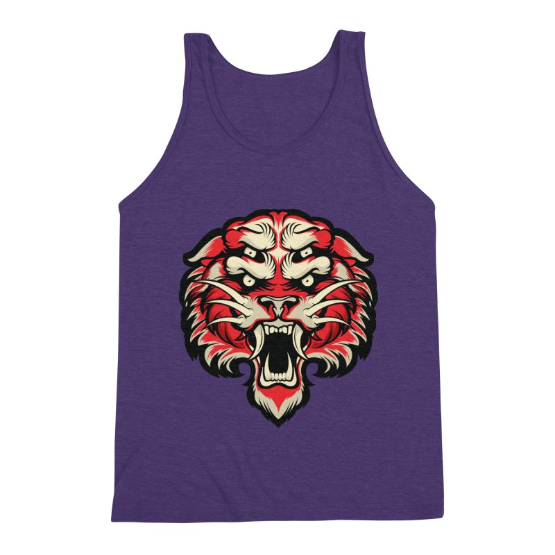 Sabertooth Men's Triblend Tank by HYDRO74