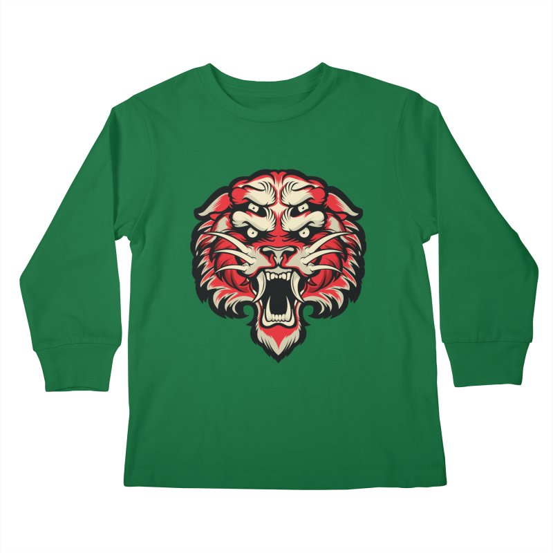 Sabertooth Kids Longsleeve T-Shirt by HYDRO74