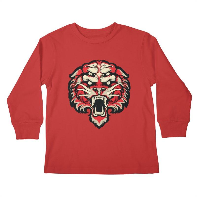 Sabertooth Kids Longsleeve T-Shirt by HYDRO74