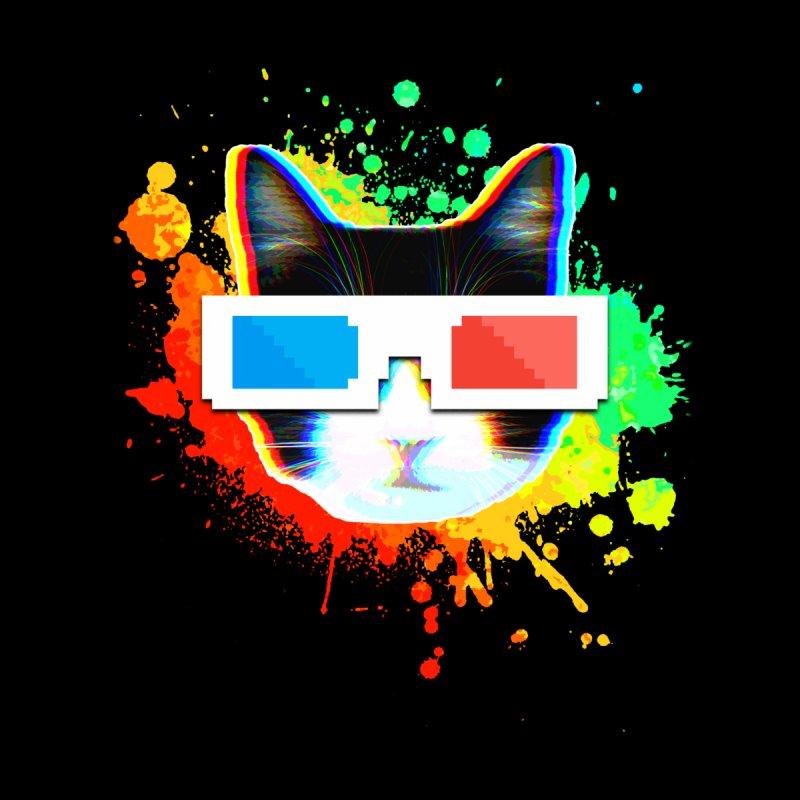 3D CatVision Men's T-Shirt by HyperZer0
