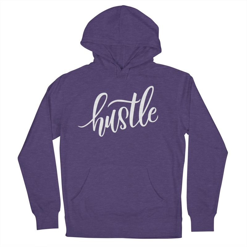 hustle Men's French Terry Pullover Hoody by Hyssop Design
