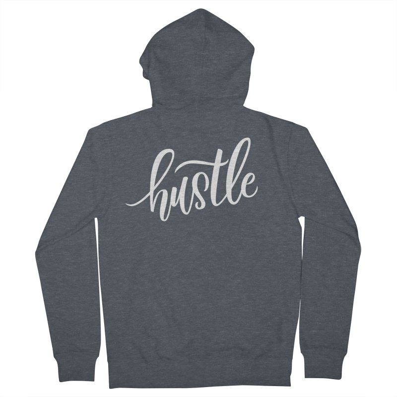 hustle Men's French Terry Zip-Up Hoody by Hyssop Design