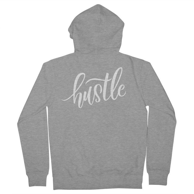 hustle Men's Zip-Up Hoody by Hyssop Design