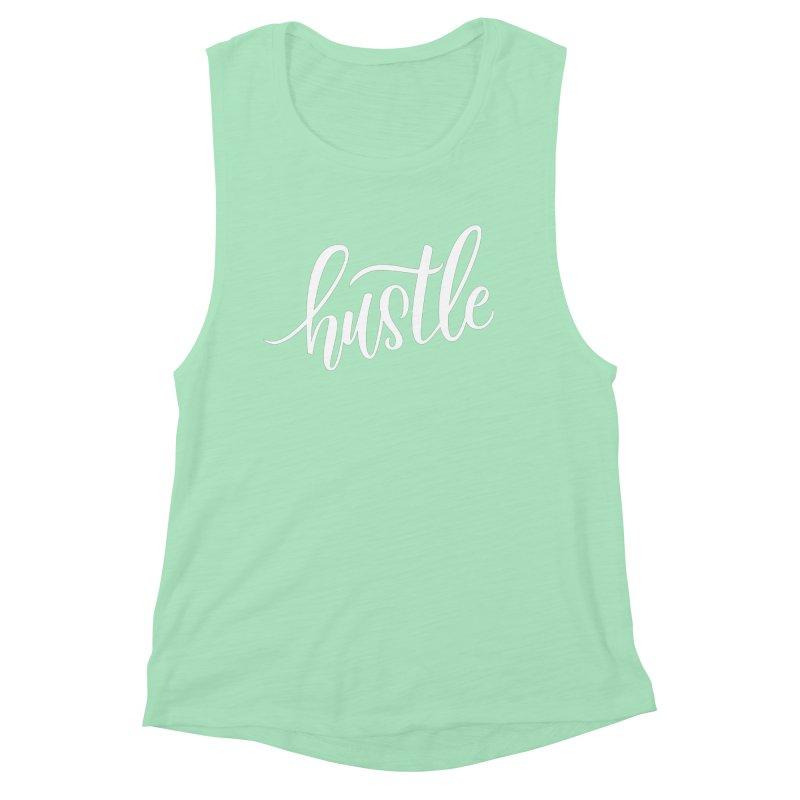 hustle Women's Muscle Tank by Hyssop Design