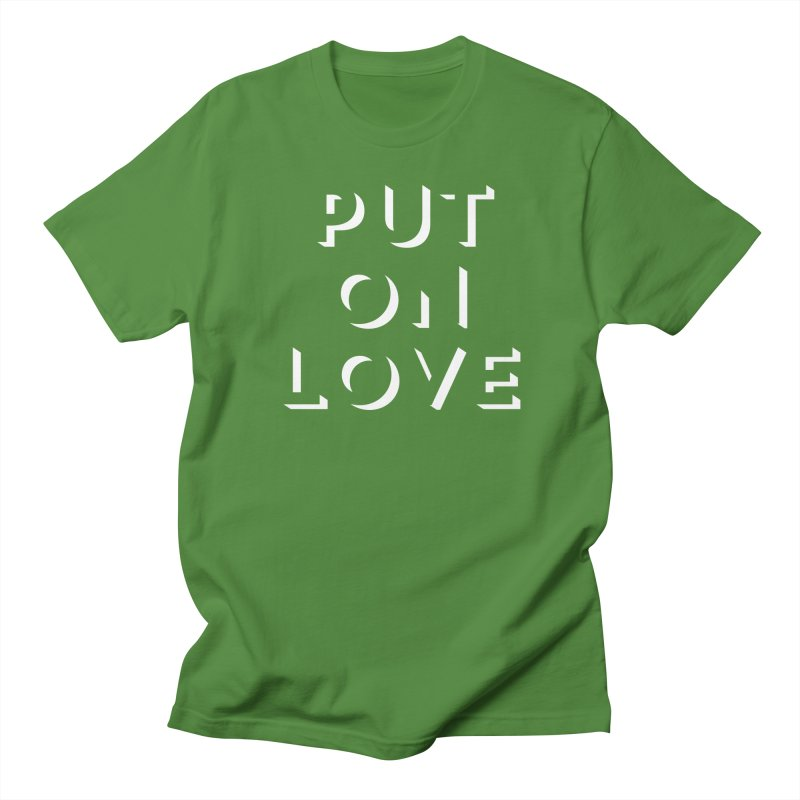 Put On Love Men's T-Shirt by Hyssop Design