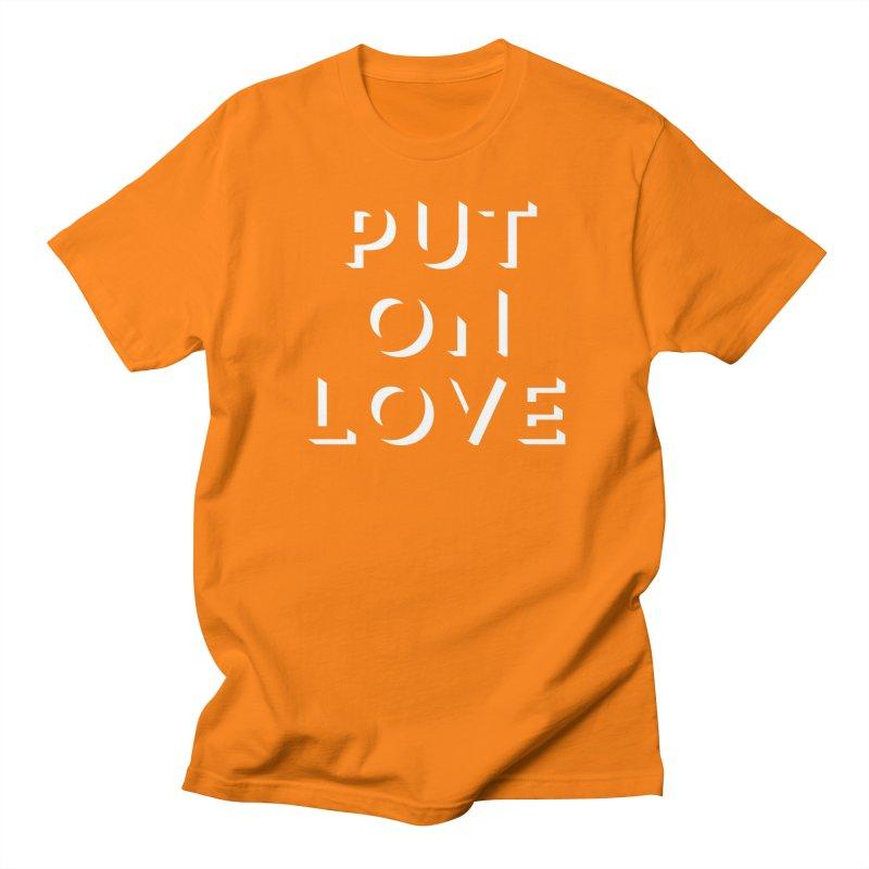 Put On Love Men's Regular T-Shirt by Hyssop Design