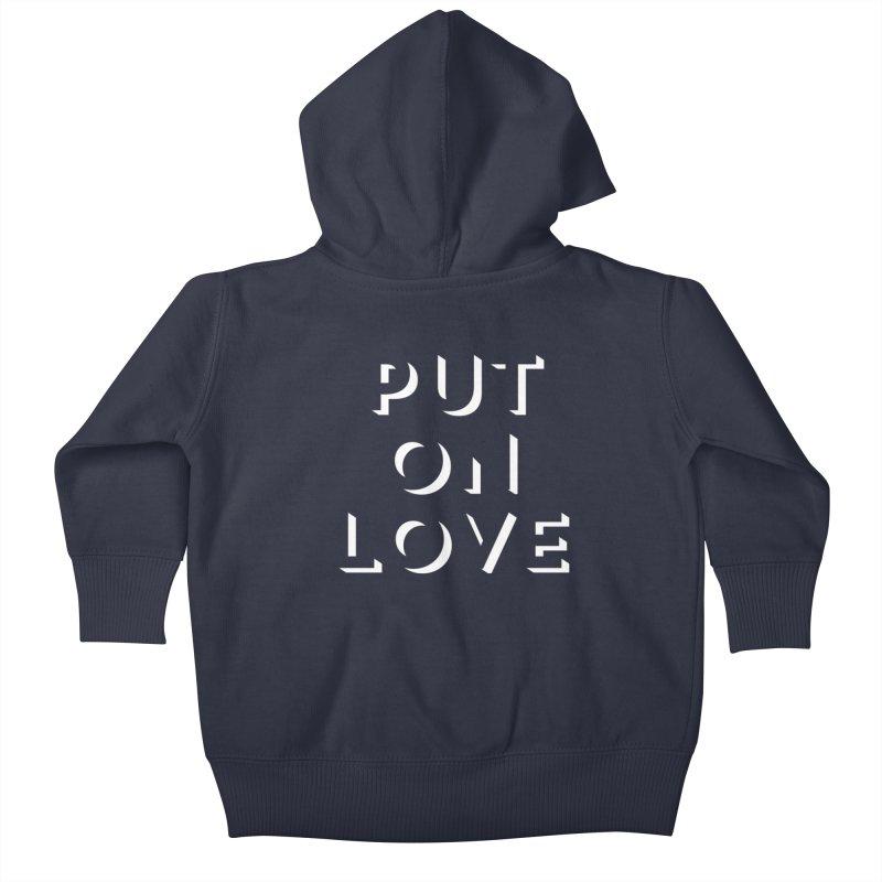 Put On Love Kids Baby Zip-Up Hoody by Hyssop Design