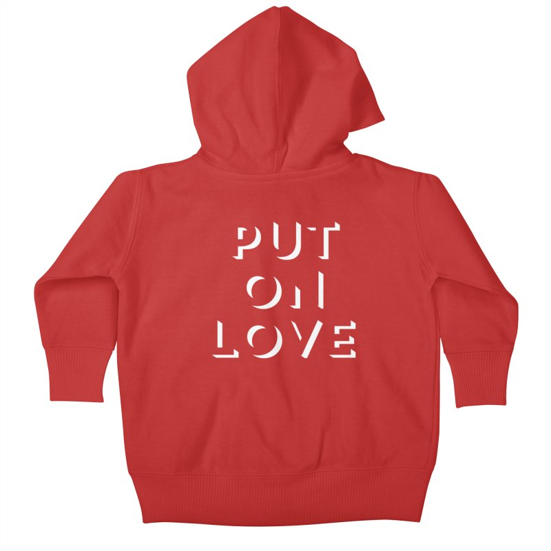 Put On Love Kids Baby Zip-Up Hoody by Hyssop Design