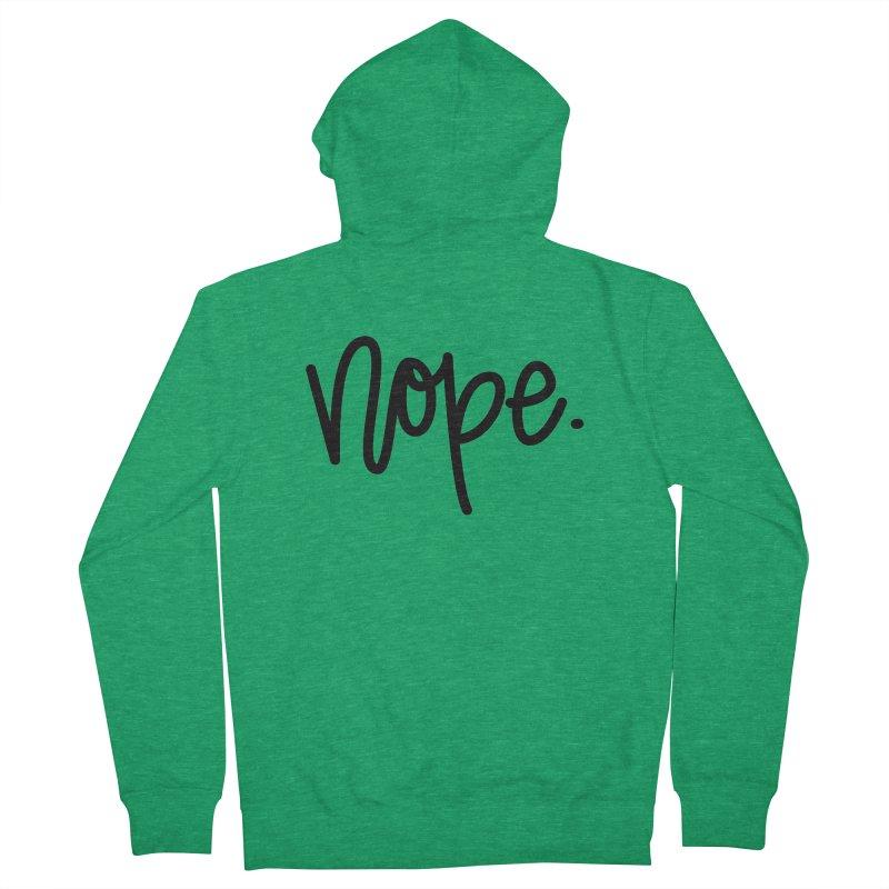 nope. Men's Zip-Up Hoody by Hyssop Design