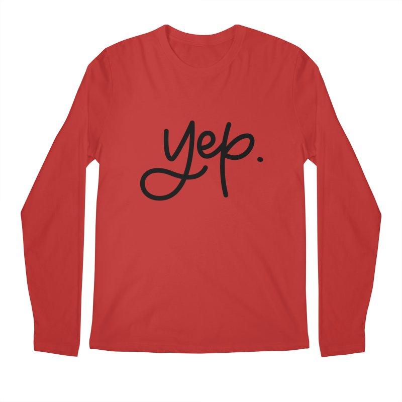 yep. Men's Regular Longsleeve T-Shirt by Hyssop Design