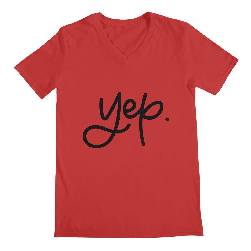 yep. Men's Regular V-Neck by Hyssop Design