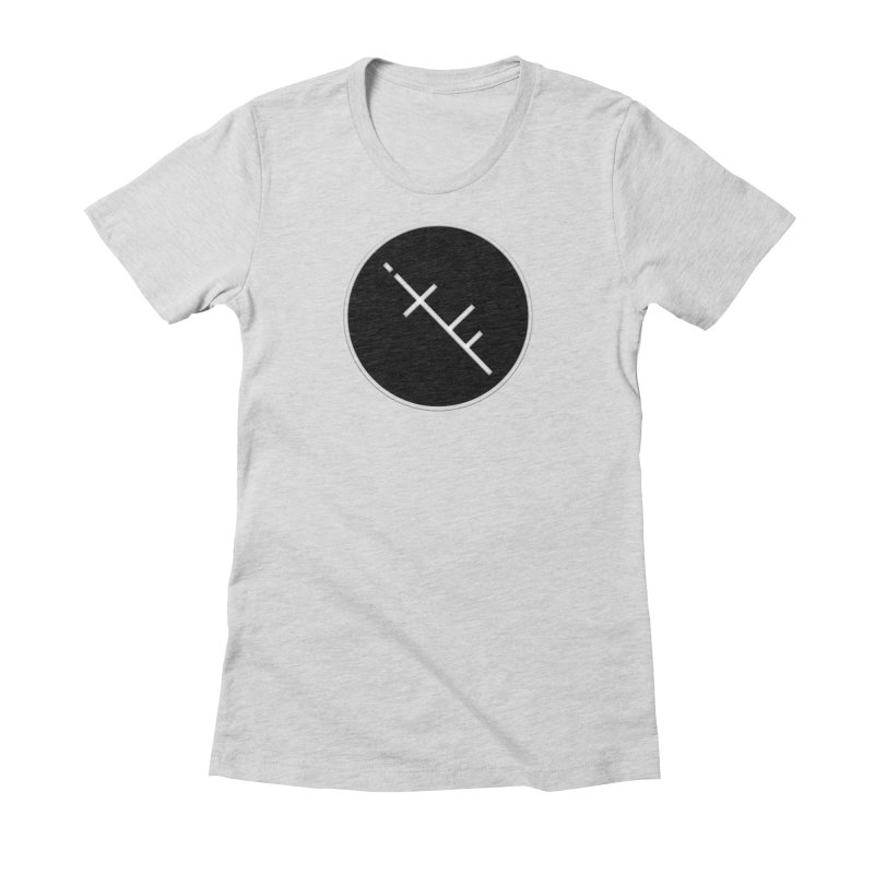 iTF LOGO in Women's Fitted T-Shirt Heather Grey by iNTO THE FRAY RADIO