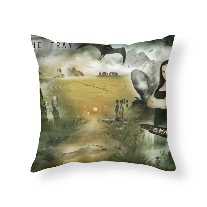 Surrounded... Home Throw Pillow by iNTO THE FRAY RADIO
