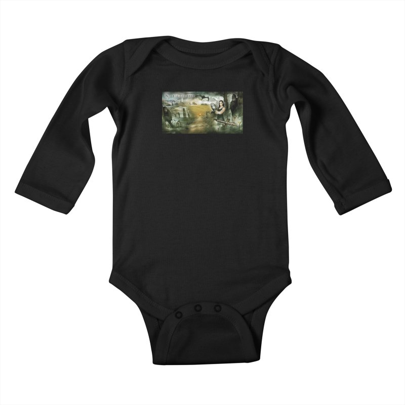 Surrounded... Kids Baby Longsleeve Bodysuit by iNTO THE FRAY RADIO