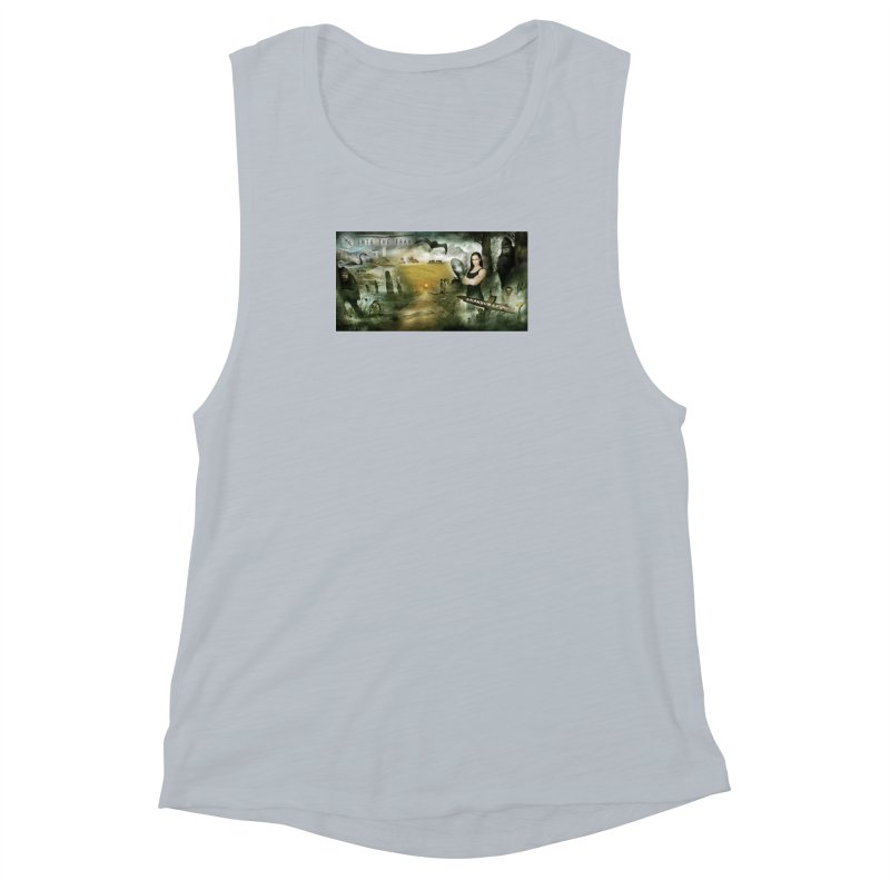 Surrounded... Women's Muscle Tank by iNTO THE FRAY RADIO