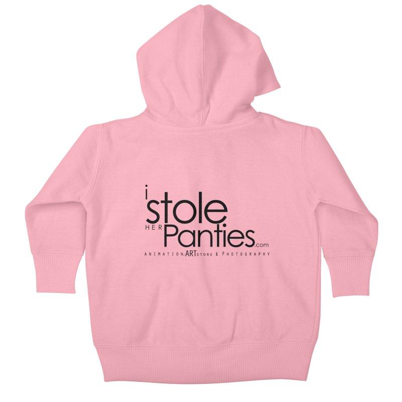 iStoleHerPanties - Black Ink Kids Baby Zip-Up Hoody by iStoleHerPanties's Artist Shop