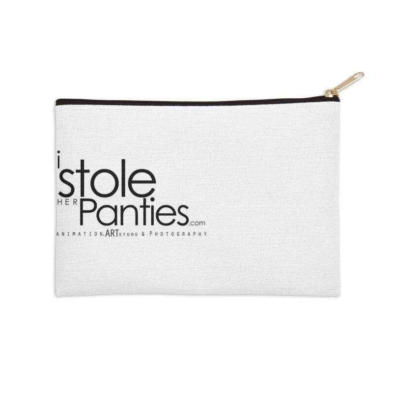 iStoleHerPanties - Black Ink Accessories Zip Pouch by iStoleHerPanties's Artist Shop