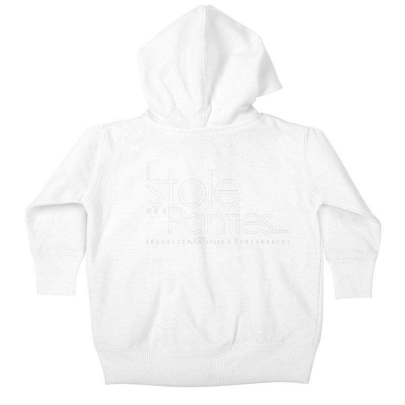 iStoleHerPanties - White Ink Kids Baby Zip-Up Hoody by iStoleHerPanties's Artist Shop