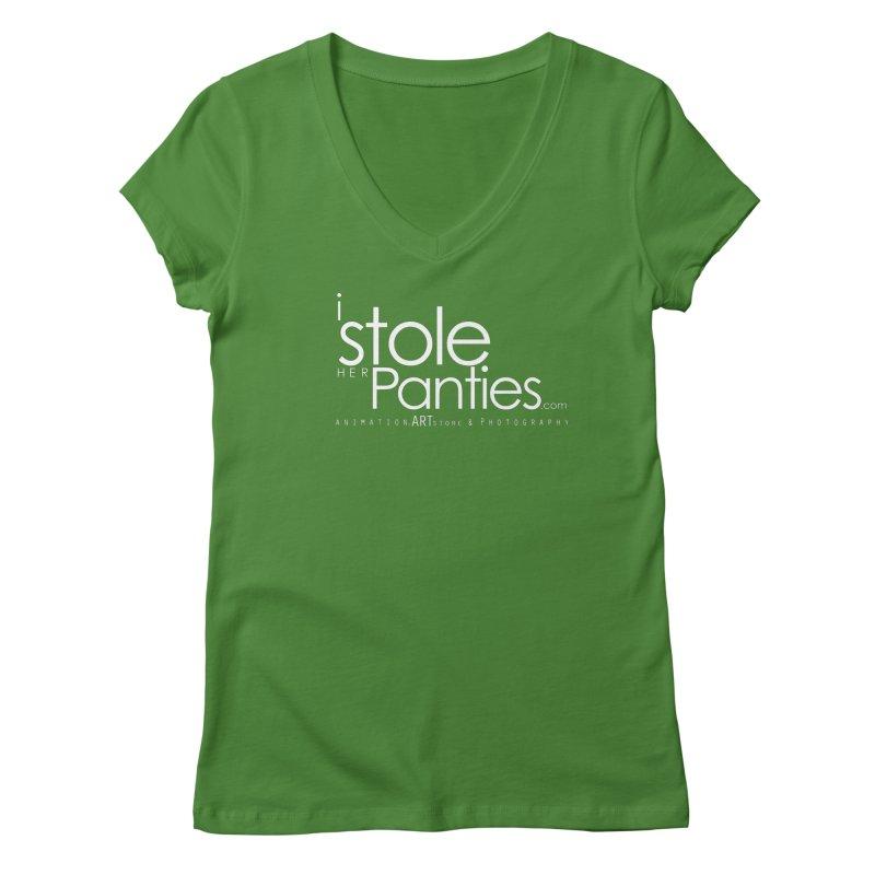 iStoleHerPanties - White Ink Women's Regular V-Neck by iStoleHerPanties's Artist Shop