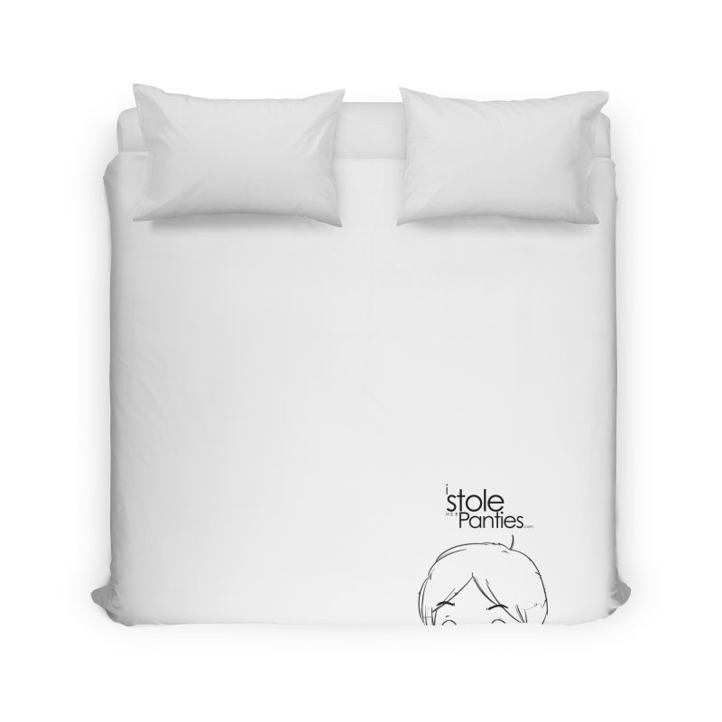 Marku & Luhta - Black Ink Home Duvet by iStoleHerPanties's Artist Shop