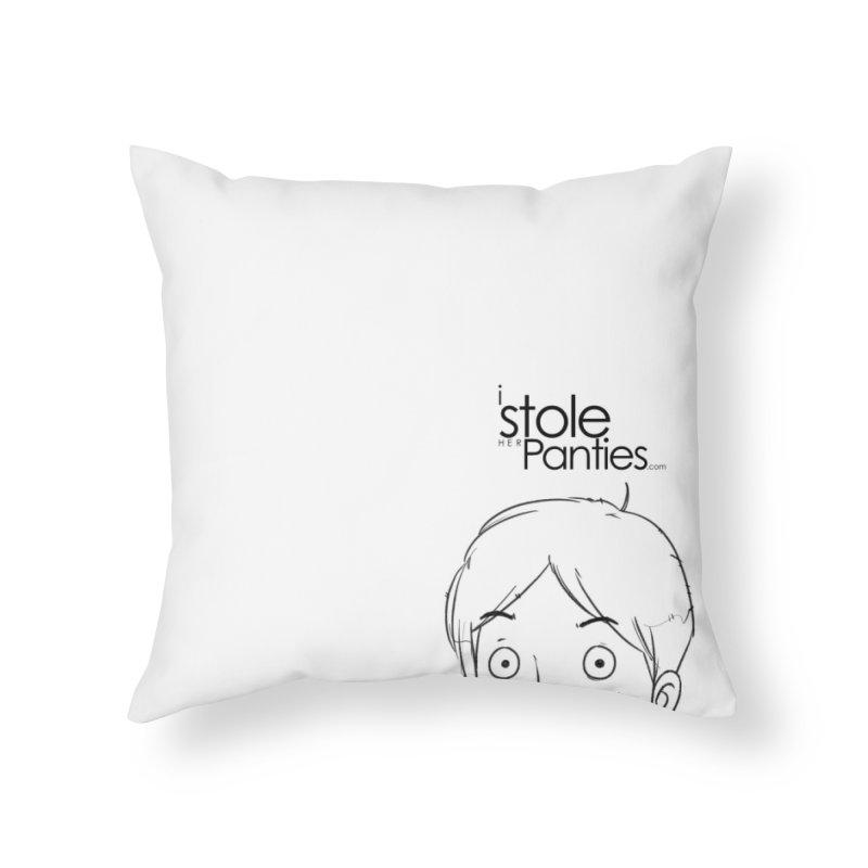 Marku & Luhta - Black Ink in Throw Pillow by iStoleHerPanties's Artist Shop