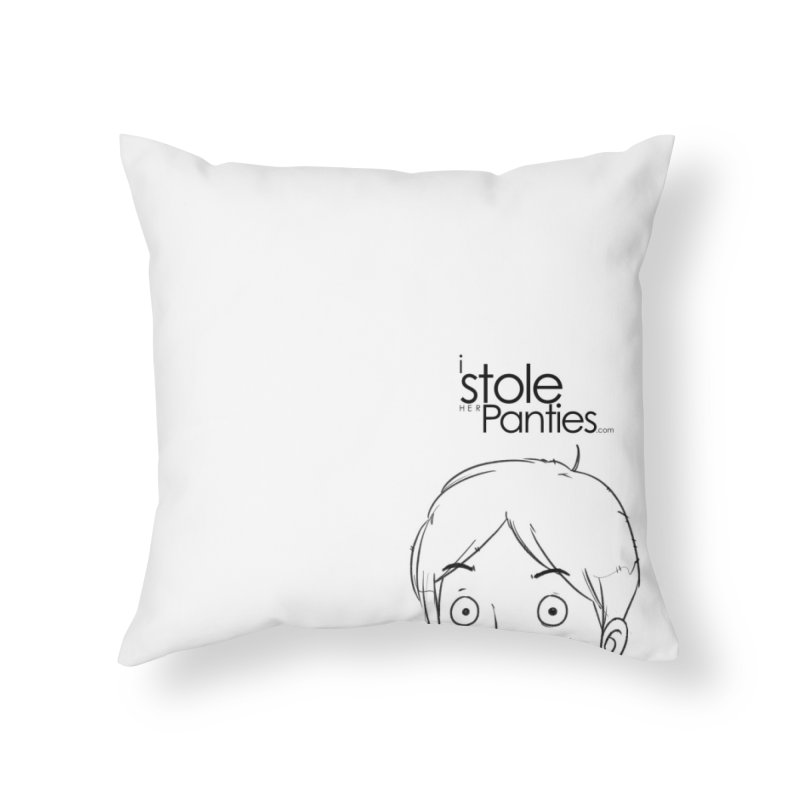 Marku & Luhta - Black Ink in Throw Pillow by iStoleHerPanties's Artist Shop