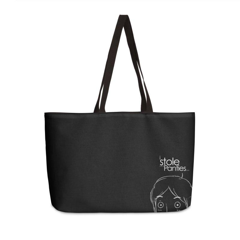Marku & Luhta - White Ink Accessories Weekender Bag Bag by iStoleHerPanties's Artist Shop