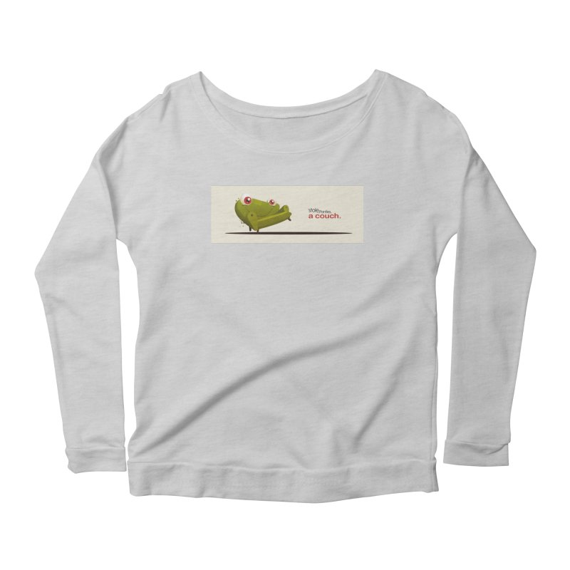 couch Boy Women's Scoop Neck Longsleeve T-Shirt by iStoleHerPanties's Artist Shop