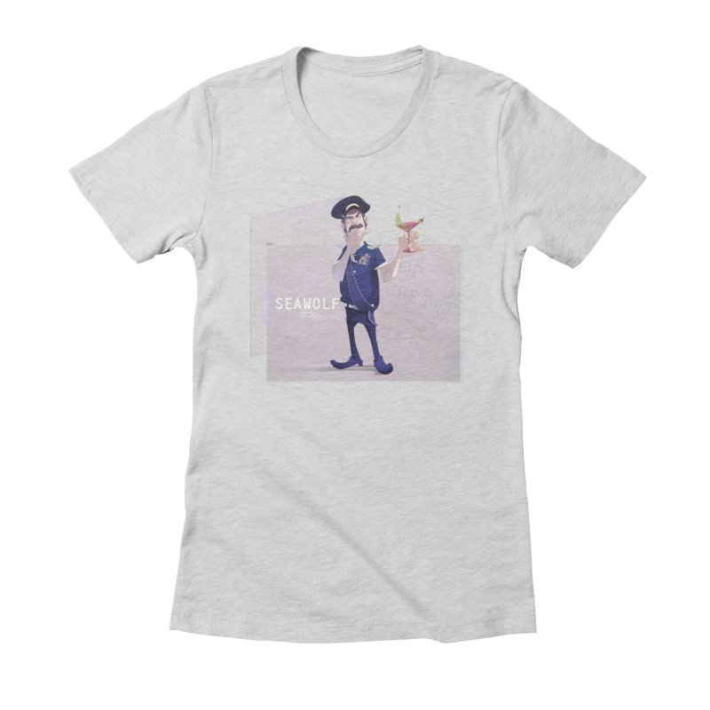Mr. Kajai in Women's Fitted T-Shirt Heather Grey by iStoleHerPanties's Artist Shop