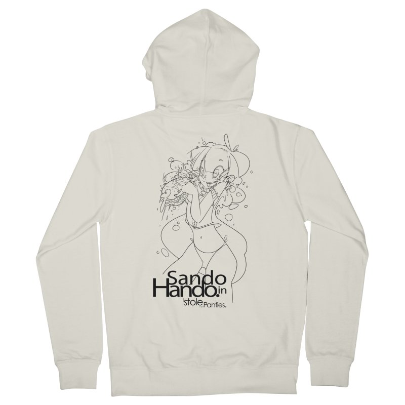 Sando in Hando Men's French Terry Zip-Up Hoody by iStoleHerPanties's Artist Shop