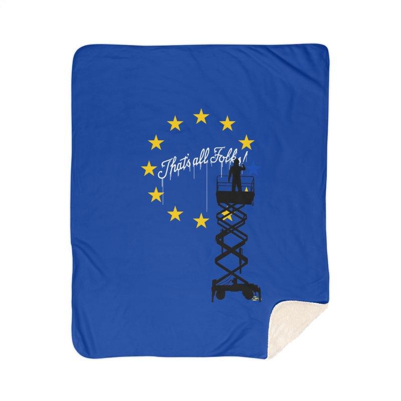 Brexit Home Sherpa Blanket Blanket by I am a graphic designer