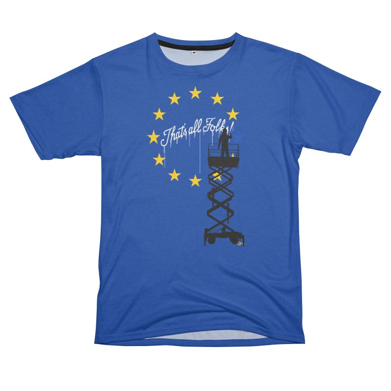 Brexit Women's Unisex French Terry T-Shirt Cut & Sew by I am a graphic designer
