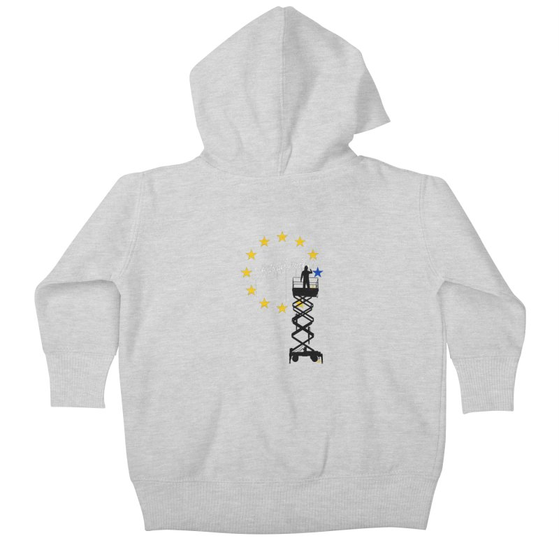 Brexit Kids Baby Zip-Up Hoody by I am a graphic designer