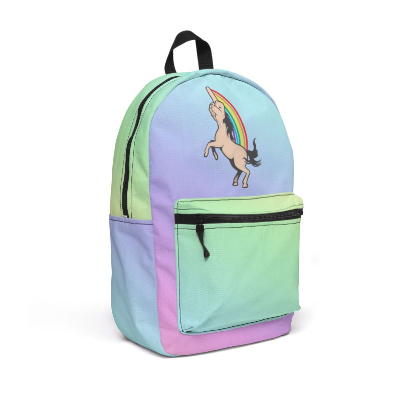 Fuckunicorn Accessories Backpack Bag by I am a graphic designer