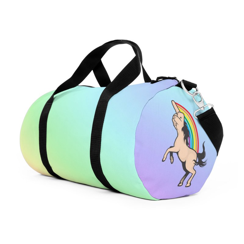 Fuckunicorn Accessories Duffel Bag Bag by I am a graphic designer