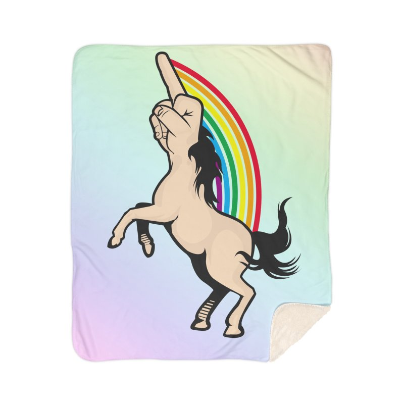 Fuckunicorn Home Sherpa Blanket Blanket by I am a graphic designer