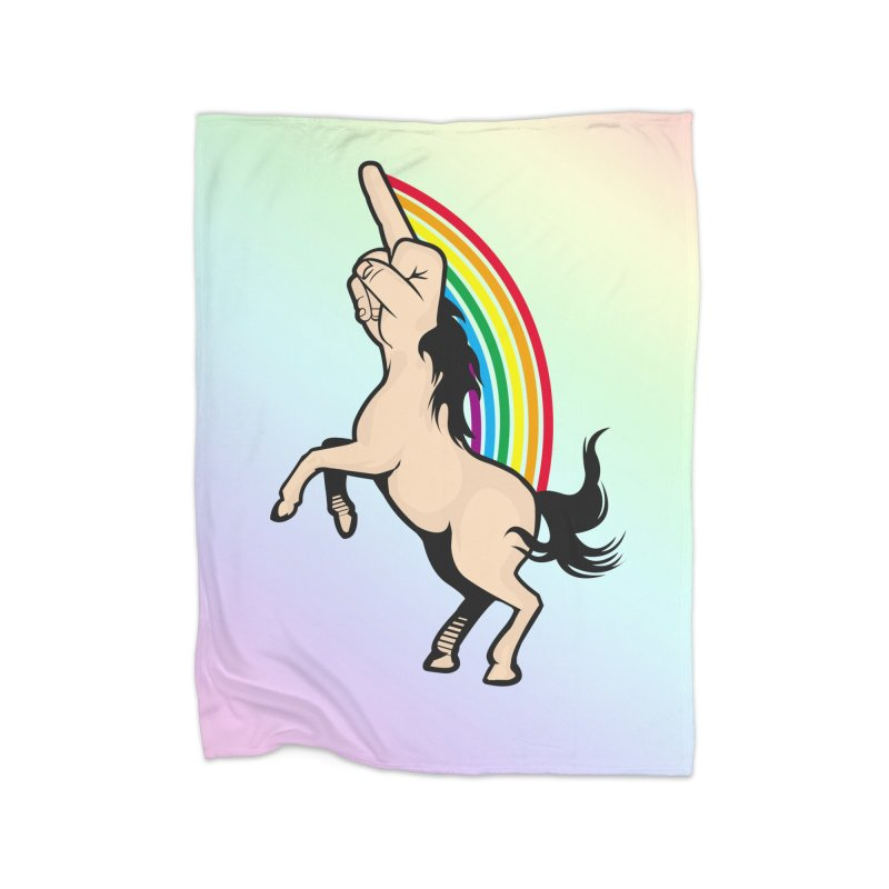 Fuckunicorn Home Fleece Blanket Blanket by I am a graphic designer